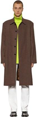 Balenciaga HOUNDSTOOTH WOOL SINGLE BREASTED COAT