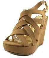 Thalia Sodi Womens Maddora Fabric Open Toe Casual Platform Sandals.