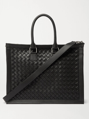 Bottega Veneta Intrecciato Leather Briefcase - Men - Black