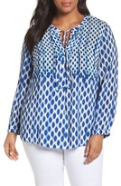 Nic+Zoe Plus Size Women's Falling Dots Top