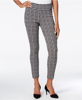 Bar III Checkered Skinny Pants, Only at Macy's