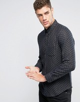 Lee Button Down Shirt Regular Fit Square Stitch Detail