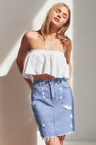 BDG Destroyed Denim Pencil Mini Skirt