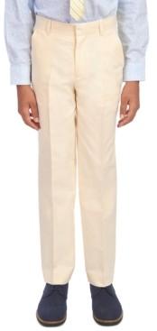 Tommy Hilfiger Big Boys Yellow Oxford Dress Pants