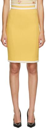 Moschino Yellow Contrast Binding Skirt