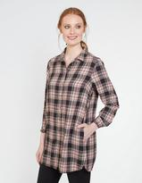 Fat Face Ottilie Check Longline Shirt