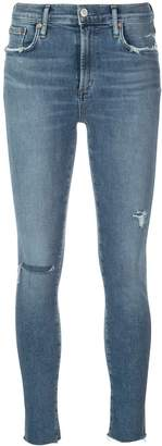 A Gold E AGOLDE distressed skinny jeans