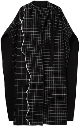 Akris Reversible Oversized Checked Cashmere-blend Cape