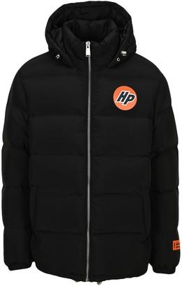 Heron Preston Logo Patch Hooded Puffer Jacket