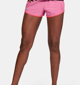 Under Armour Women's UA Fly-By 2.0 Shine On Mini Shorts