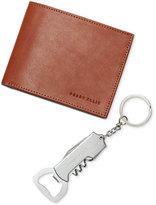 Perry Ellis Men's Leather Passcase & Keychain