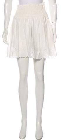 The Kooples Embroidered Eyelet Skirt