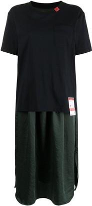 Maison Mihara Yasuhiro Logo-Patch Short-Sleeve Dress
