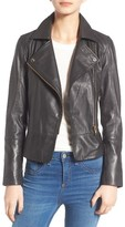 Ted Baker Women's Minimal Leather Biker Jacket
