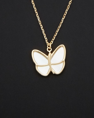 Italian Gold 14K Mother-Of-Pearl Butterfly Necklace