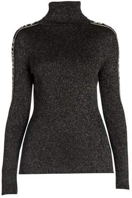 Off-White Off White Lurex Logo Turtleneck Sweater