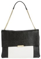Ted Baker Phellia Pebbled Leather Shoulder Bag - Black