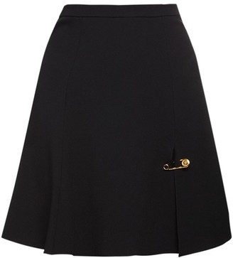 Versace Stretch Cady Flared Skirt