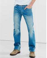 Express classic boot light wash stretch jeans