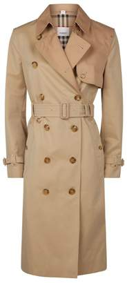 Burberry Gabardine Two-Tone Herne Trench Coat