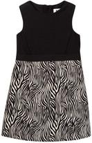 Milly Minis Zebra Panel Dress (Toddler & Little Girls)