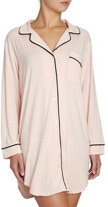 Eberjey Gisele Sleepshirt - Sorbet Pink/ Black, Xs