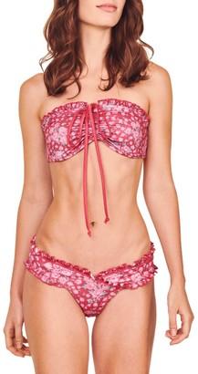LoveShackFancy Jewel Two-Piece Floral Bikini Set