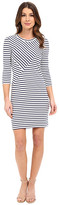 Lacoste 3/4 Sleeve Stripe Bodycon Dress