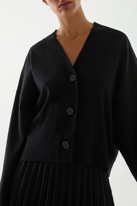 Cos Merino Wool-Mix Oversized Cardigan