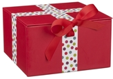 John Lewis Red Spot Christmas Gift Box, Small
