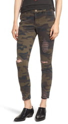 Tinsel Ripped Camouflage Jeggings