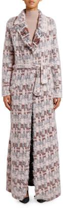 Giorgio Armani Floating-Stitch Belted Long Coat