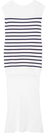 Alexander Wang Striped Cotton And Silk-Crepe Dress