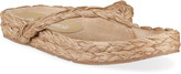 Thumbnail for your product : Pedro Garcia Alda 5mm Raffia Flat Thong Sandals