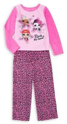AME Sleepwear Little Girl's & Girl's 2-Piece L.O.L. Pajama Top & Pants Set