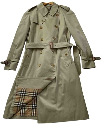 Burberry Green Trench Coat for Women Vintage