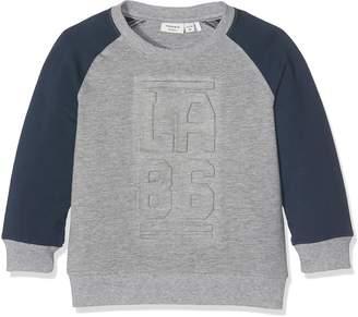 Name It Girl's NITJINGO LS SWEAT MZ Long Sleeve Top Grey (Grey Melange) 98