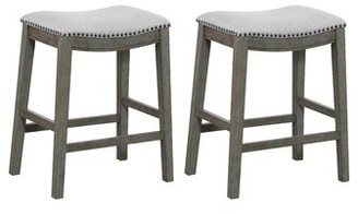 """Rosecliff Heights Clewiston Bar & Counter Stool Rosecliff Heights Upholstery: Gray, Color: Antique Gray, Seat Height: Counter Stool (24.75"""" Seat Height)"""