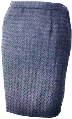 Valentino Blue Wool Skirt for Women Vintage
