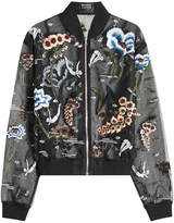 Markus Lupfer Underwater Embroidered and Embellished Chiffon Jacket
