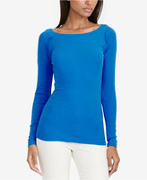 Lauren Ralph Lauren Petite Stretch Ballet Neck Shirt