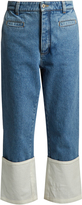 Loewe Contrast-cuff cropped denim fisherman jeans