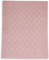 Mamas and Papas Cable Knit Blanket in Dusky Rose