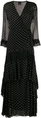 Pinko Polka-Dot Wrap Dress