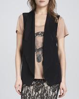 Haute Hippie Long Collared Blazer Vest