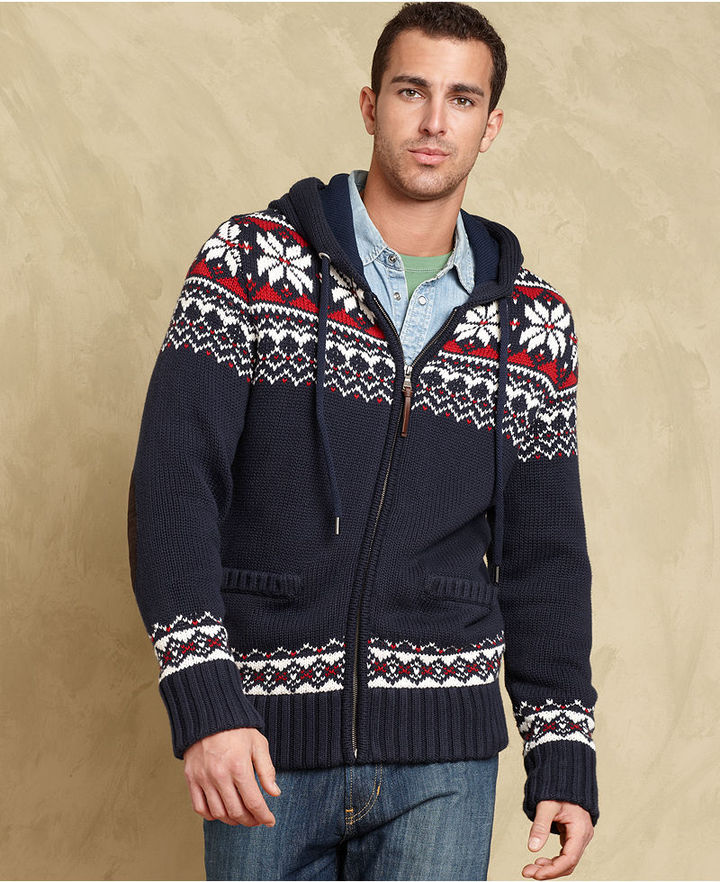 Tommy Hilfiger Sweater, Harold Cotton Full Zip Hooded Sweater