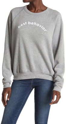 PST by Project Social T Best Behavior Pullover Sweater