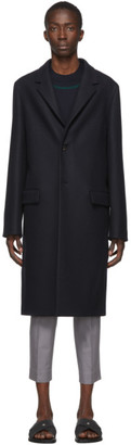 Jil Sander Navy Raw Edge Coat