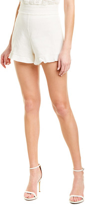 Alice + Olivia London Ruffle Linen-Blend Short