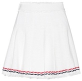 Thom Browne Pleated cotton mini skirt